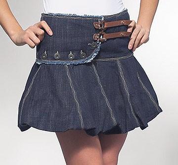 """Костюмы с юбками - джинсовая юбка  """"баллон """" - Миледи."""