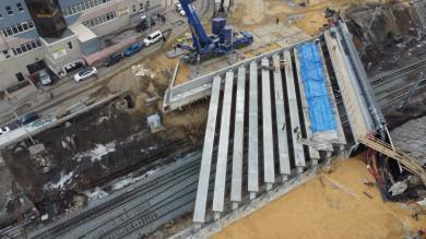 В Воронеже завершили монтаж основной конструкции виадука у«Работницы»