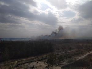 Появилось видео масштабного пожара у воронежской больницы