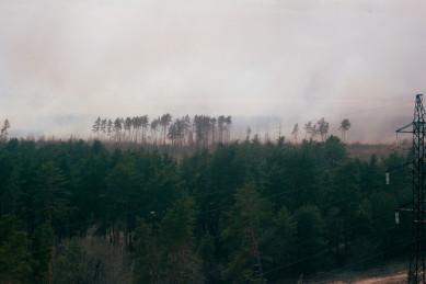 Спасатели потушили пожар рядом с больницей на окраине Воронежа