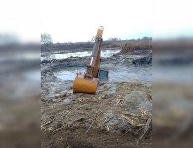 Инцидент с застрявшим у Усманки экскаватором обернулся штрафом в 300 тысяч рублей