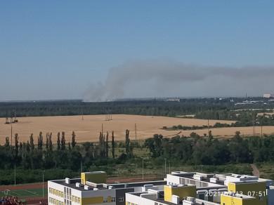 Воронежцы заметили надлесом дым пожара