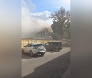 В Воронеже загорелась гостиница