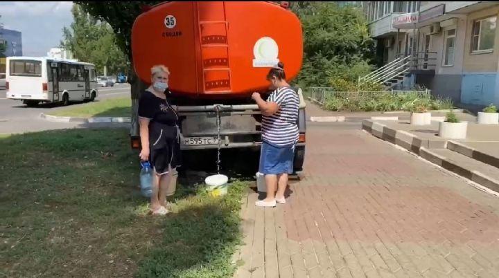 В Белгороде прорвало трубопровод