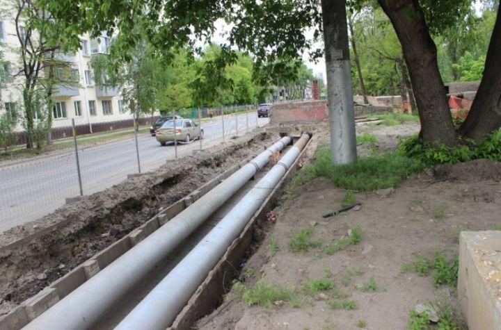 В Липецке на улице Макарова отремонтировали теплосеть