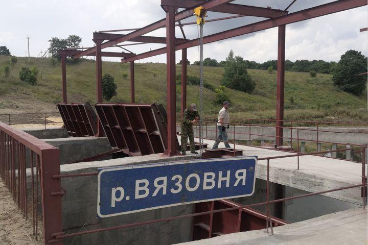 В Данковском районе заканчивается ремонт ГТС водохранилища
