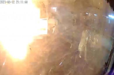 Появилось видео момента взрыва маршрутного ПАЗа в Воронеже