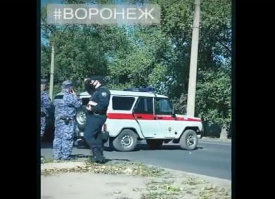 Машина Росгвардии попала в ДТП в Воронеже