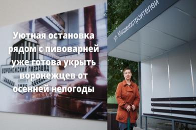 В Воронеже появилась остановка из переработанного пластика