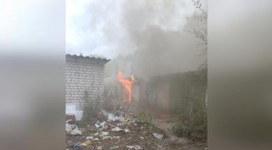 Гаражи загорелись вСоветском районе Воронежа