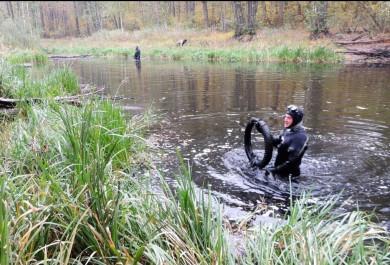 В Воронежской области почистили отмусора Черепашье озеро