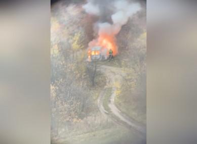 Машина сгорела возле парка «Динамо» вВоронеже