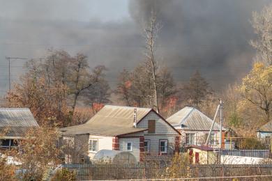 В Россошанском районе Воронежской области произошёл пожар