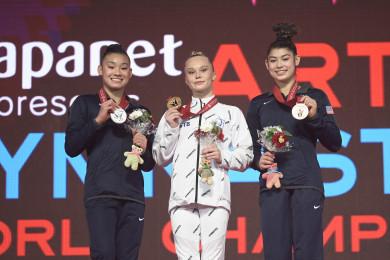 Воронежская гимнастка Ангелина Мельникова стала чемпионкой мира