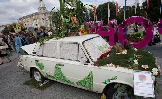 Воронежские ботаники предложили из автохлама делать клумбы