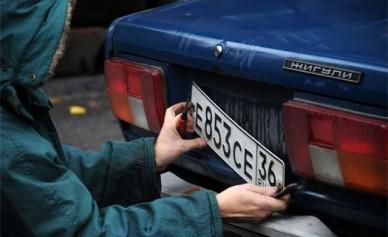 В Воронеже задержали девушку и парня, воровавших автомобильные номера