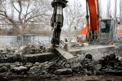 В Воронеже начали демонтаж очередного пролёта виадука на 9 Января