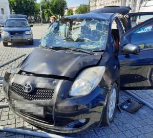 Три человека пострадали в ДТП в центре Воронежа